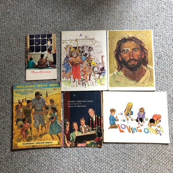 Vintage Other - Christian puzzles & children's books circa 1960